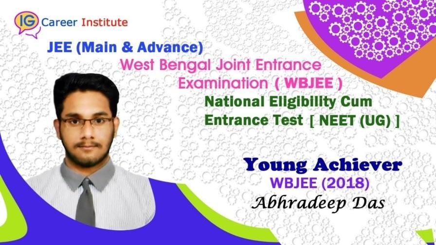 Successful student WBJEE 2018 Abhradeep Das